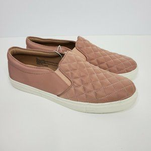 Reese Quilted Sneakers Slip on Casual Shoe Pink